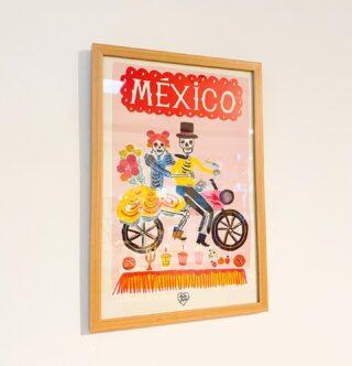 NUEVO Afiche Holalola de México: CALAVERAS EN MOTO❤️🌸🇲🇽